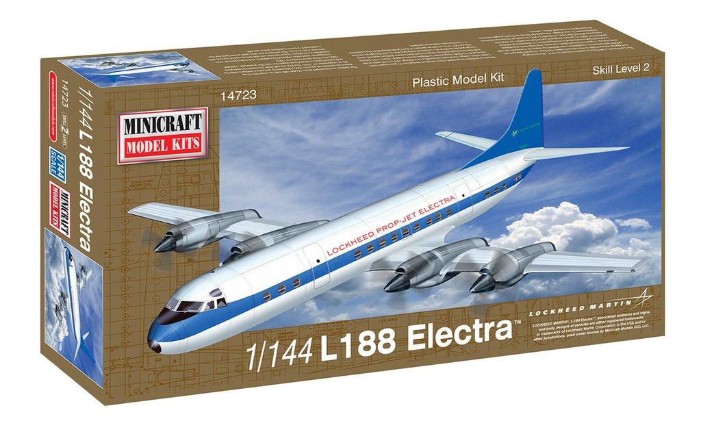 N Scale - Minicraft - 14723 - Aircraft, Propeller, Lockheed L-188 Electra - Lockheed - L188 Electra