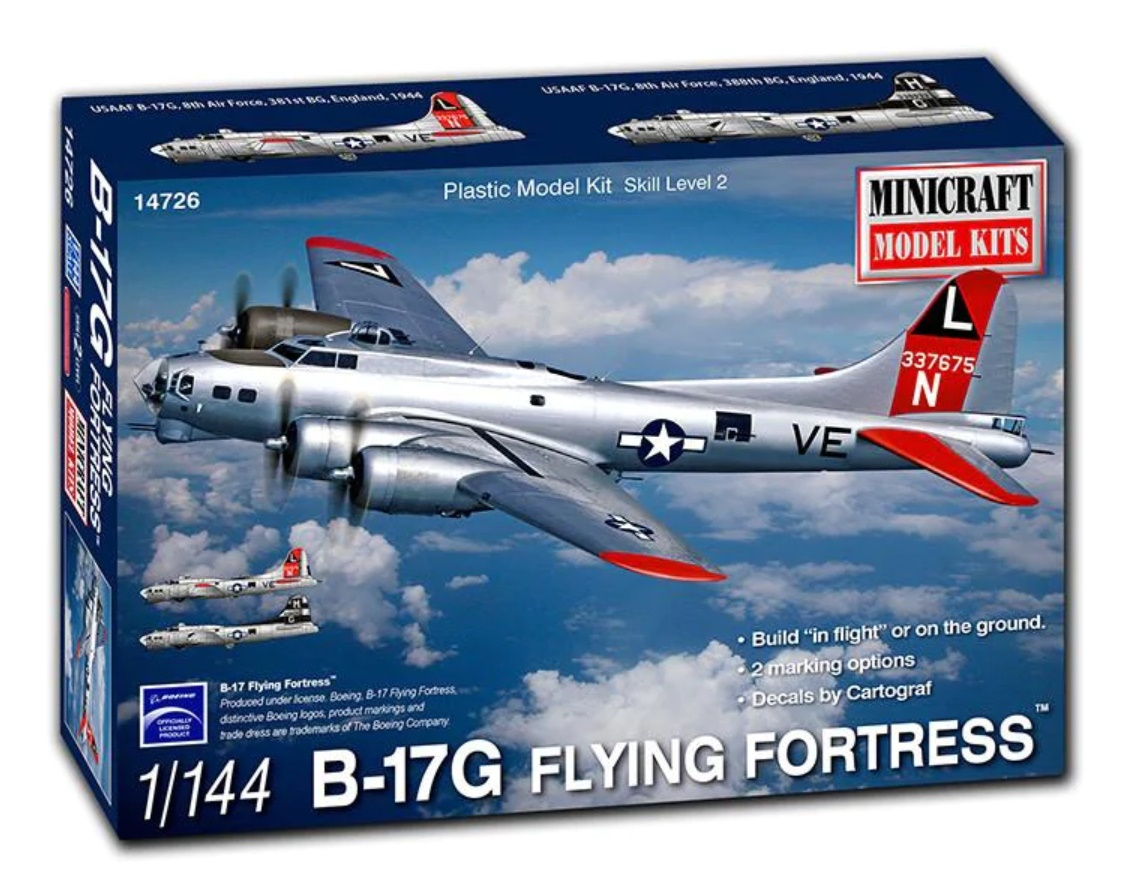 N Scale - Minicraft - 14726 - Vehicle, Aircraft - United States Army Air Corps - B17G