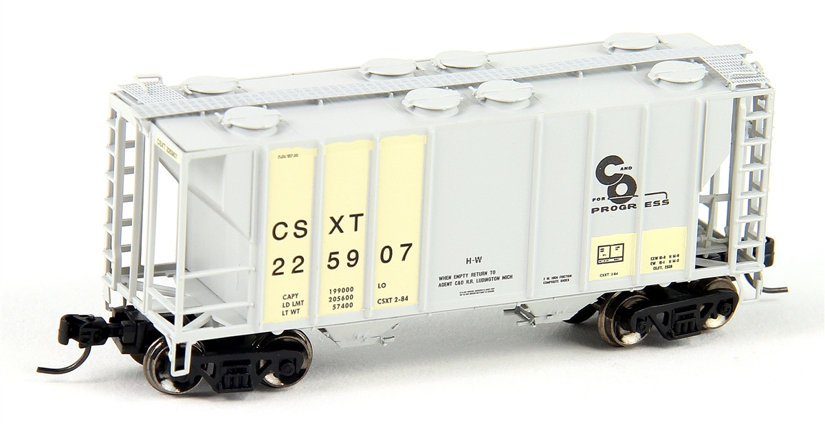 N Scale - Athearn - 12278 - Covered Hopper, 2-Bay, PS2 - CSX Transportation - 225907