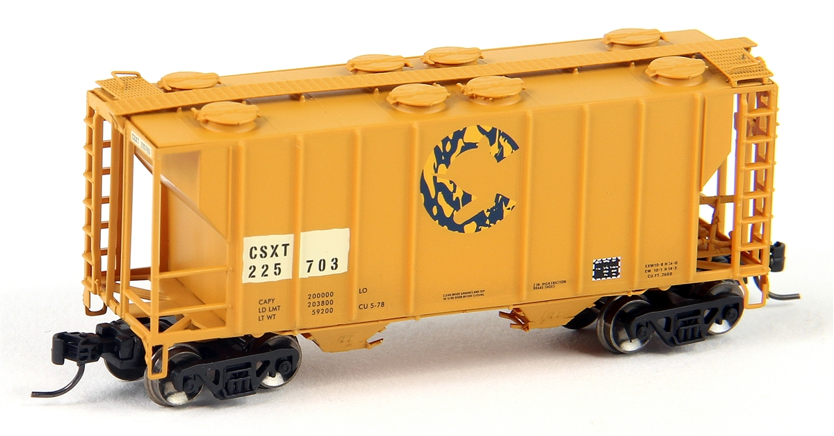 N Scale - Athearn - 12281 - Covered Hopper, 2-Bay, PS2 - CSX Transportation - 225703