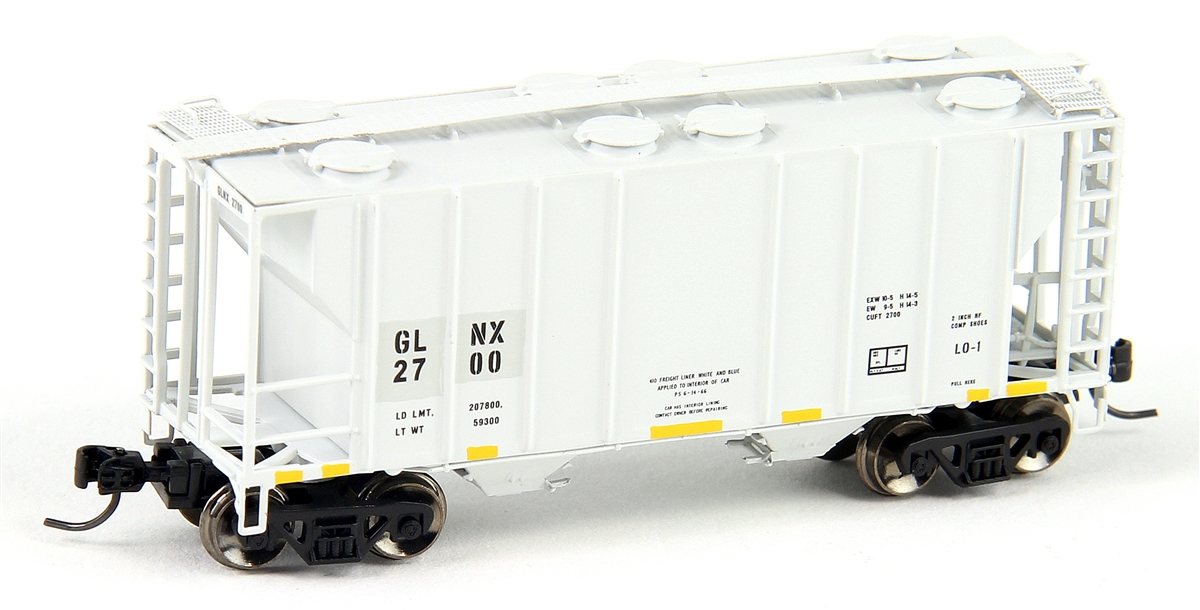 N Scale - Athearn - 12284 - Covered Hopper, 2-Bay, PS2 - GLNX - 2700