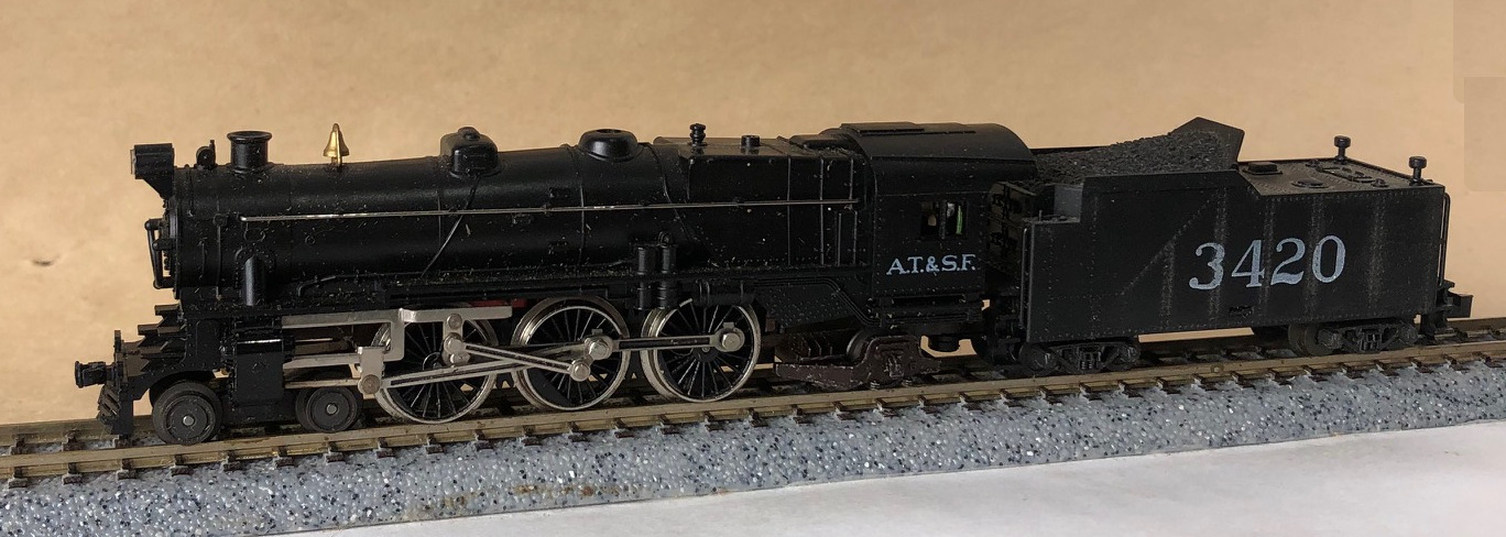 N Scale - Minitrix - 2990 - Locomotive, Steam, 4-6-2, Pacific K4 - Santa Fe - 3420