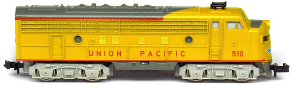 N Scale - Aurora Postage Stamp - 4861-210 - Locomotive, Diesel, EMD F9 - Union Pacific - 510