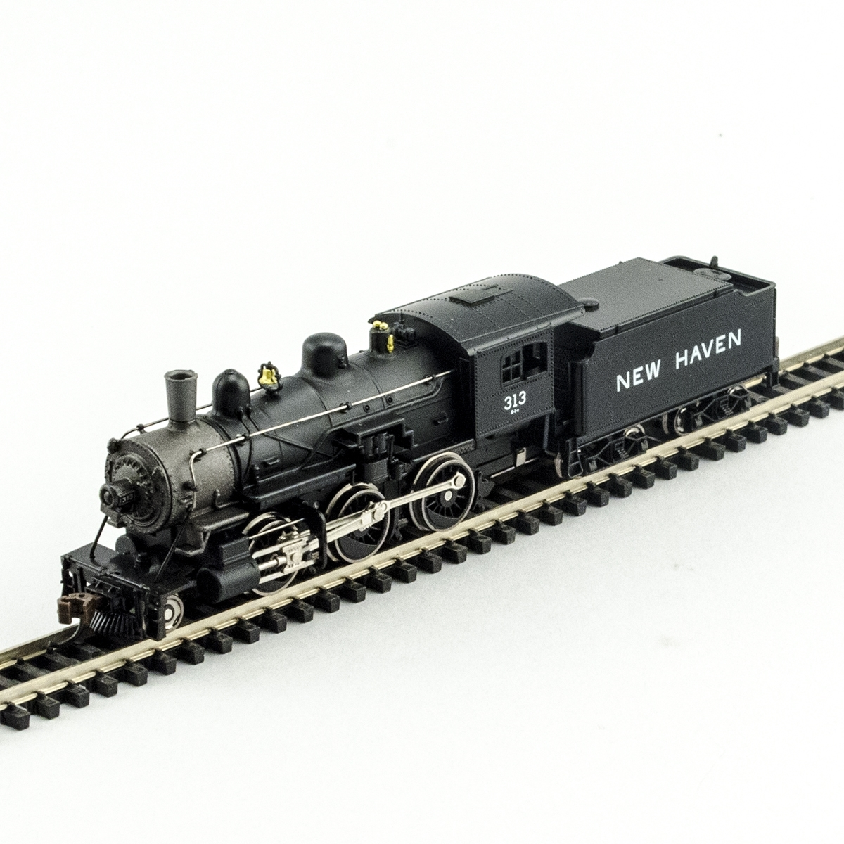 N Scale - Model Power - 876171 - Locomotive, Steam, 2-6-0 Mogul - New Haven - 313