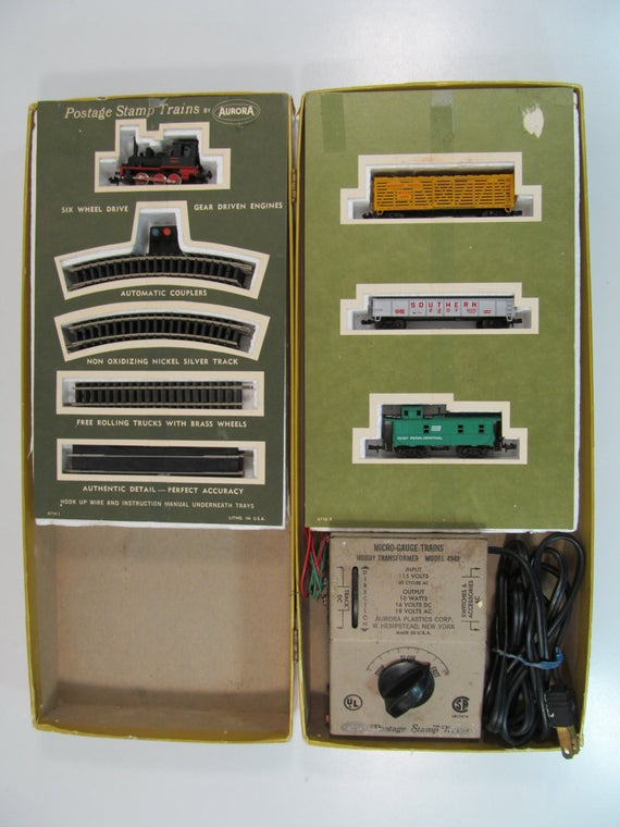N Scale - Aurora Postage Stamp - 4720 - Lil Donkey 4-Unit Freight Set - Painted/Unlettered - 4-Unit Set