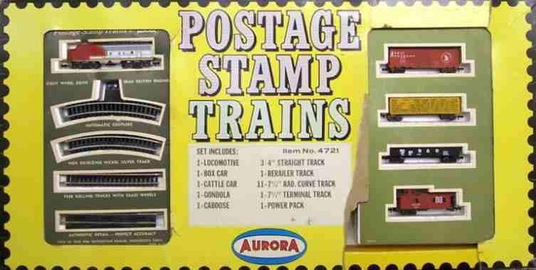 N Scale - Aurora Postage Stamp - 4721 - EMD F9 5-Unit Freight Set - Painted/Unlettered - 5-Unit Set