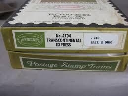 N Scale - Aurora Postage Stamp - 4704 - EMD F9 7-Unit Double Headed Freight Set - Baltimore & Ohio - 5-Unit Set