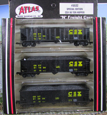N Scale - Atlas - 5532 - Open Hopper, 3-Bay, 90 Ton - CSX Transportation - 141290, 141290,  812026