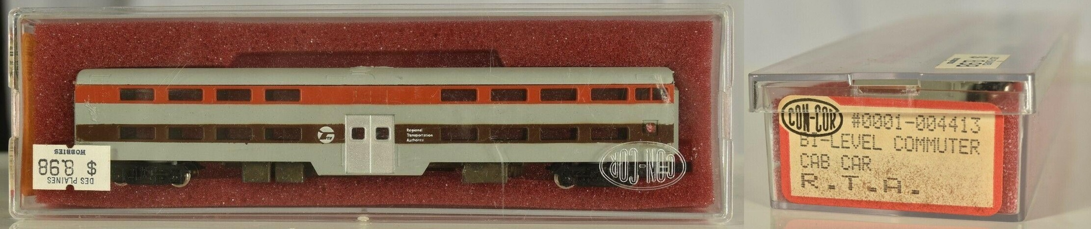 N Scale - Con-Cor - 0001-004413 - Passenger Car, Commuter, Pullman Gallery - Regional Transportation Authority