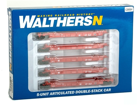 N Scale - Walthers - 929-8101 - Container Car, Articulated, Thrall Lo-Pac - Canadian Pacific - 524326