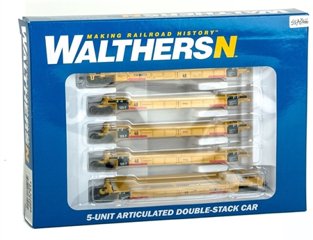 N Scale - Walthers - 929-8107 - Container Car, Articulated, Thrall Lo-Pac - Trailer Train - 72888