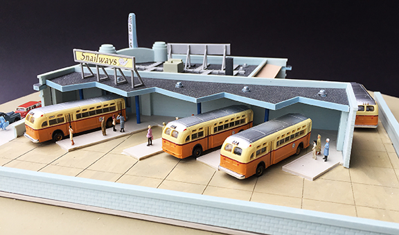 N Scale - Lunde Studios - LS-NK-12 - Bus Station. - Undecorated