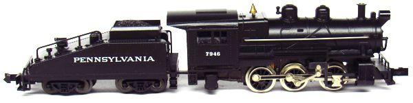 N Scale - Aurora Postage Stamp - 4852 - Locomotive, Steam, 0-6-0 USRA - Pennsylvania - 7946