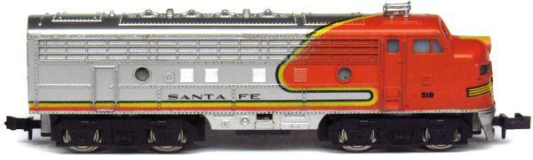 N Scale - Aurora Postage Stamp - 4871-220 - Locomotive, Diesel, EMD F9 - Santa Fe - 510