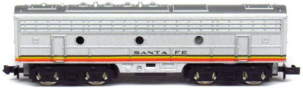 N Scale - Aurora Postage Stamp - 4854 - Locomotive, Diesel, EMD F9 - Santa Fe