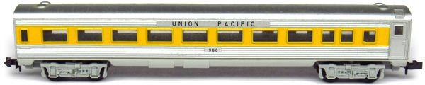 N Scale - Aurora Postage Stamp - 4891-210 - Passenger Car, Lightweight, Budd - Union Pacific - 960