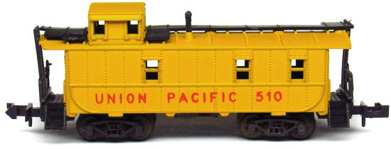 N Scale - Aurora Postage Stamp - 4887-210 - Caboose, Cupola, Steel - Union Pacific - 510