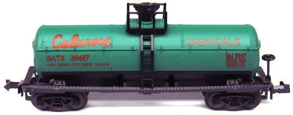 N Scale - Aurora Postage Stamp - 4884-420 - Tank Car, Single Dome, 39 Foot - Celanese Chemicals - 39617
