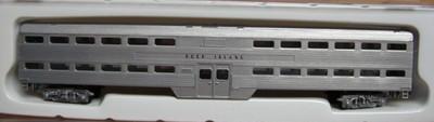 N Scale - Con-Cor - 0001-004423 - Passenger Car, Commuter, Budd Bi-Level, Coach - Chicago, Rock Island and Pacific Railroad