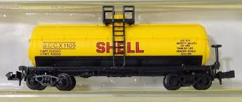 N Scale - Model Power - 3455 - Tank Car, Single Dome, 39 Foot - Shell Oil - 1105