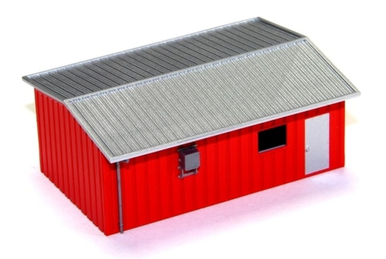 N Scale - Deluxe Innovations - D307 - Yard Office - Painted/Unlettered - Armco Yard Office