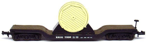 N Scale - Aurora Postage Stamp - 4865 - Flatcar, Heavy Duty, Depressed Center - Erie - 7300