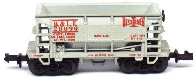 N Scale - Aurora Postage Stamp - 4864-450 - Open Hopper, Ore, 70 Ton - Bessemer & Lake Erie - 20090