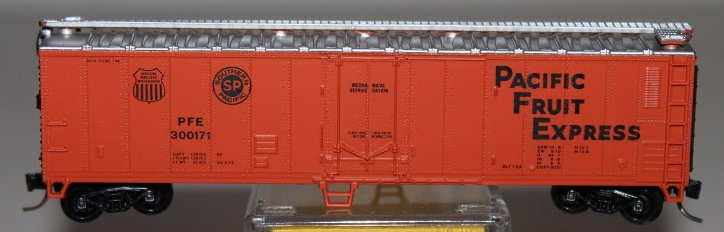 N Scale - Atlas - 3661 - Reefer, 50 Foot, Mechanical - Pacific Fruit Express - 300171