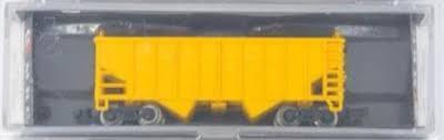 N Scale - MRC - 7051 - Open Hopper, 2-Bay, Rib Side, Arch End - Peabody Short Line