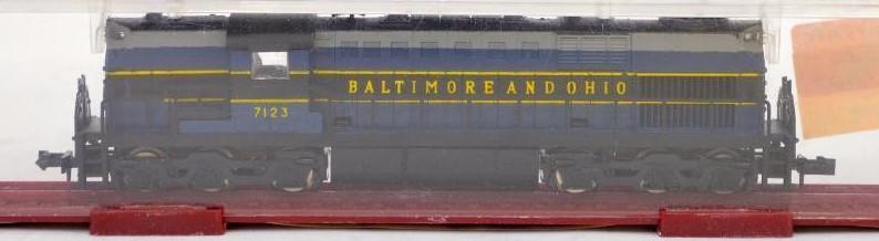 N Scale - MRC - 6968 - Locomotive, Diesel, Alco RSD-15 - Baltimore & Ohio - 7123