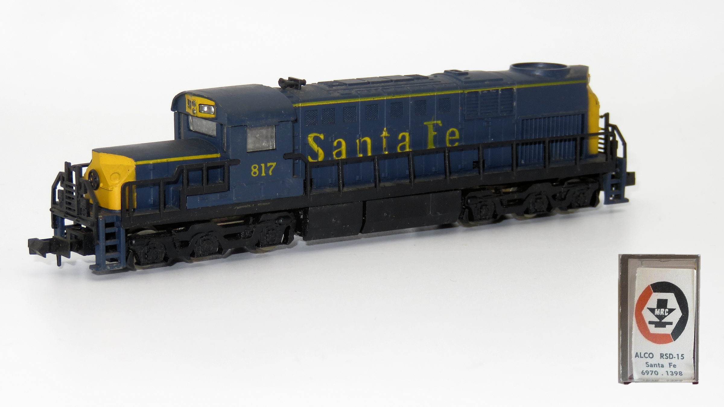 N Scale - MRC - 6970 - Locomotive, Diesel, Alco RSD-15 - Santa Fe - 817