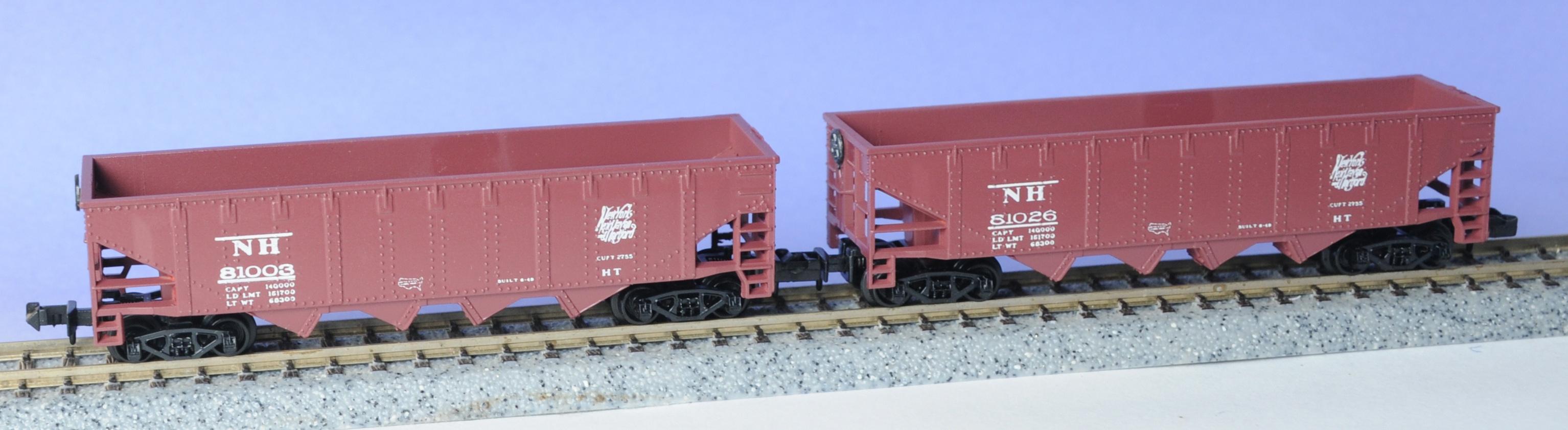 N Scale - Eastern Seaboard Models - 2805 - Open Hopper, 4-Bay Steel - New Haven - 2-Pack