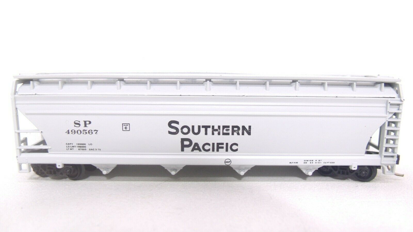 N Scale - Atlas - 3702 - Covered Hopper, 4-Bay, ACF Centerflow - Southern Pacific - 490567