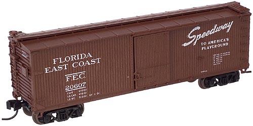N Scale - Atlas - 45733 - Boxcar, 40 Foot, USRA Double Sheathed Wood - Florida East Coast - 20610