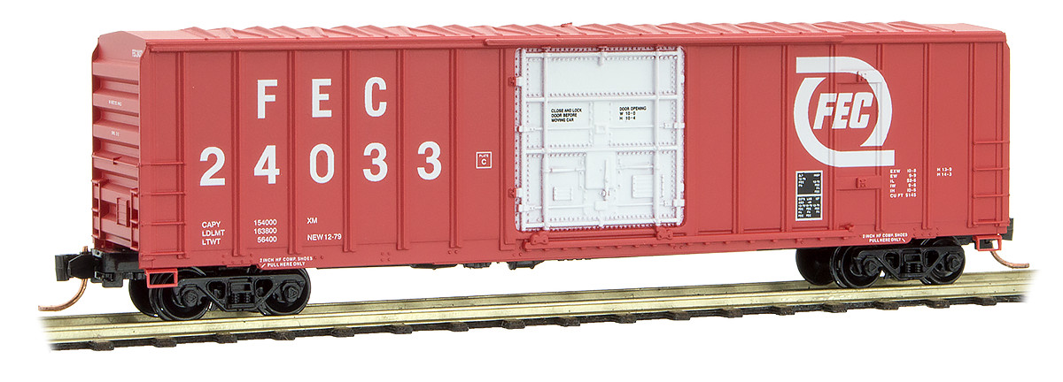 N Scale - Micro-Trains - 027 00 420 - Boxcar, 50 Foot, Steel - Florida East Coast - 24033