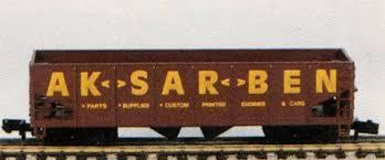 N Scale - Ak-Sar-Ben - PROMO1 - Open Hopper, 2-Bay, 100 Ton - Aksarben