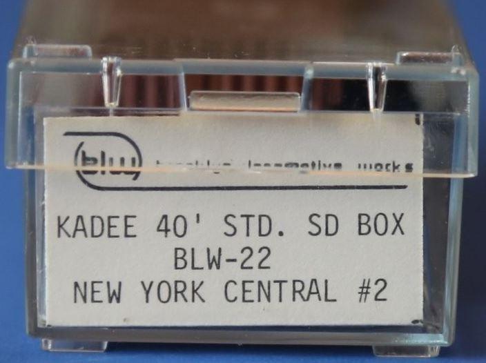 N Scale - Brooklyn Locomotive Works - BLW-22 - Boxcar, 40 Foot, PS-1 - New York Central - 180195