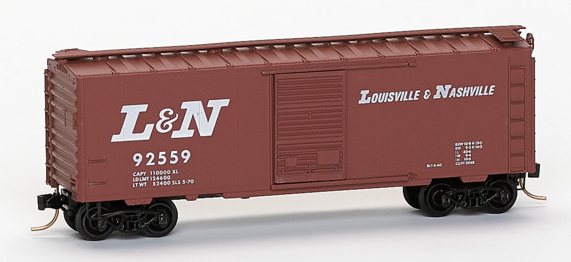 N Scale - Brooklyn Locomotive Works - BLW-35 - Boxcar, 40 Foot, PS-1 - Louisville & Nashville - 92559