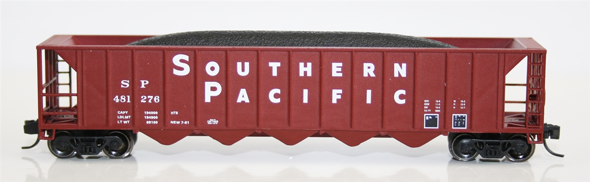 N Scale - Fox Valley - 83607-1 - Open Hopper, 5-Bay Ortner Rapid Discharge - Southern Pacific - 481252