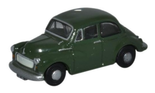 N Scale - Oxford Diecast - NMOS004 - Automobile, Morris Minor - Painted/Unlettered - XDU 196