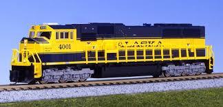 N Scale - Kato USA - 176-6403 - Locomotive, Diesel, EMD SD70 - Alaska Railroad - 4001