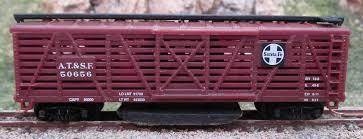 N Scale - Industrial Rail - 7793 - Stock Car, 40 Foot, Wood - Santa Fe - 50656