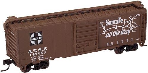 N Scale - Atlas - 34640 - Boxcar, 40 Foot, PS-1 - Santa Fe - 142602