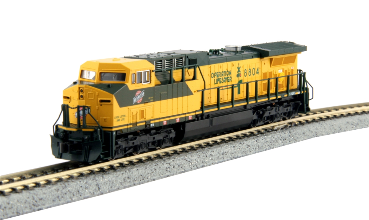 N Scale - Kato USA - 176-7035-1 - Locomotive, Diesel, GE AC4400CW - Chicago & North Western - 8804