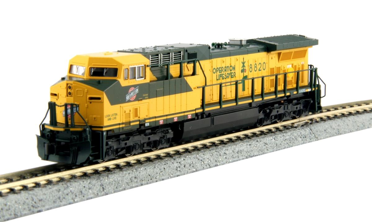N Scale - Kato USA - 176-7036-1 - Locomotive, Diesel, GE AC4400CW - Chicago & North Western - 8820