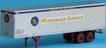 N Scale - Trainworx - 40226-04 - Trailer, 40 Foot, Box - Chesapeake & Ohio - 202411