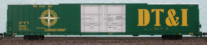 N Scale - Bluford Shops - 86391 - Boxcar, 85 or 86 Foot, Auto Parts - Detroit Toledo & Ironton