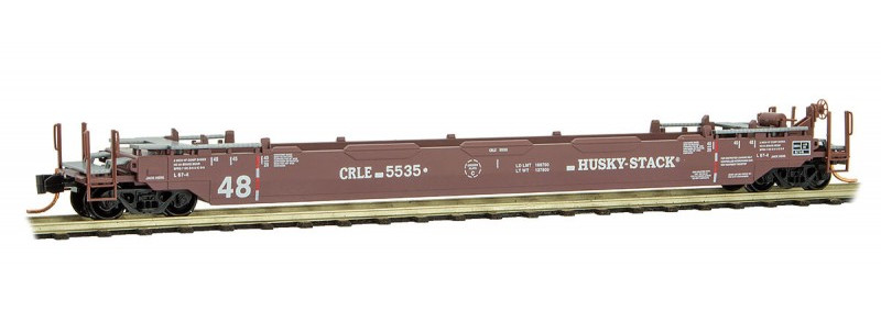 N Scale - Micro-Trains - 135 00 042 - Container Car, Single Well, Gunderson Husky Stack 48 - Coe Rail - 5535