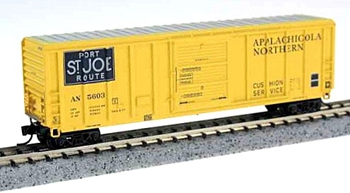 N Scale - Fox Valley - 8101-2 2nd Release - Boxcar, 50 Foot, PS 5344 - Apalachicola Northern - 5397