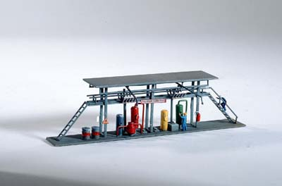 N Scale - Piko - 60021 - Tank Filling Station - Painted/Unlettered - Tank Filling Station